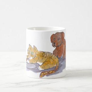 Dog Food, Yum, says Tiger Kitten Coffee Mug