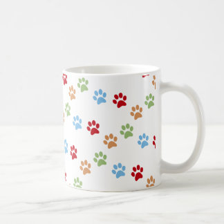 Dog footprint coffee mug