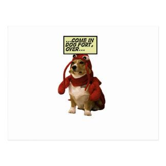 Dog Fort T-shirt Postcard