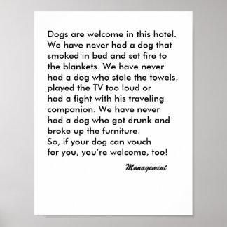 Dog Friendly Hotel Sign