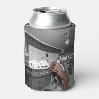 Dog Friendly Saloon Tavern Bar 1900 Photograph Can Cooler