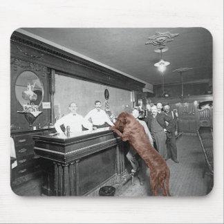 Dog Friendly Saloon Tavern Bar 1900 Photograph Mouse Pad