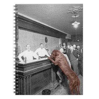 Dog Friendly Saloon Tavern Bar 1900 Photograph Notebook
