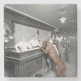 Dog Friendly Saloon Tavern Bar 1900 Photograph Stone Coaster
