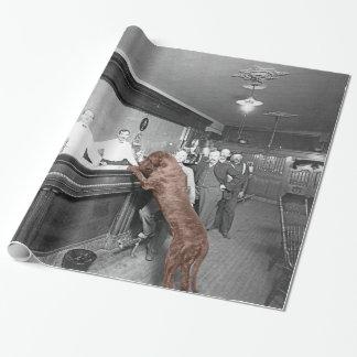 Dog Friendly Saloon Tavern Bar 1900 Photograph Wrapping Paper
