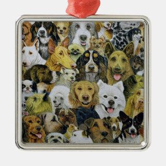 Dog Friends Metal Ornament