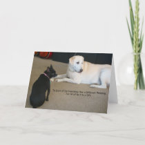 Dog Friendship Card