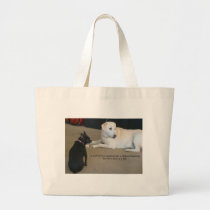 Dog Friendship Large Tote Bag