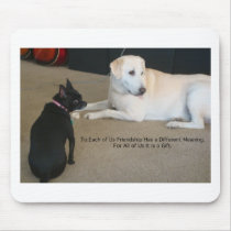 Dog Friendship Mouse Pad