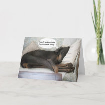 Dog funny get well card