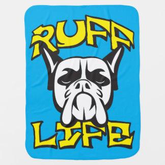 Dog Funny Novelty Pun - Ruff Life Receiving Blanket