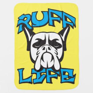 Dog Funny Novelty Pun - Ruff Life Swaddle Blanket