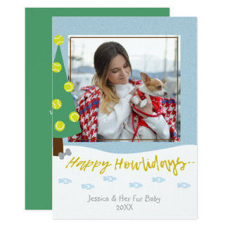 Dog Fur Baby Custom Photo Holiday Christmas Card