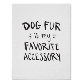 Dog Fur Print Poster