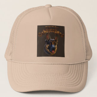 Dog German shepherd Truck driver Trucker Hat