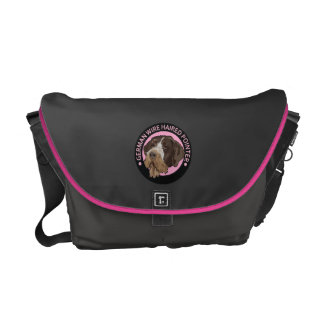 Dog german wirehaired pointer courier bag