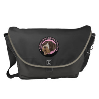 Dog german wirehaired pointer messenger bag