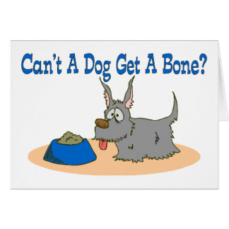 Dog Get A Bone Card
