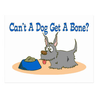 Dog Get A Bone Postcard