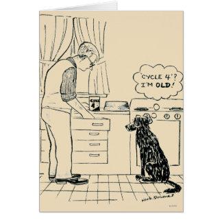 Dog Getting Older Card