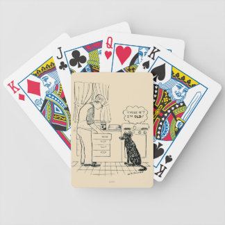 Dog Getting Older Bicycle Playing Cards