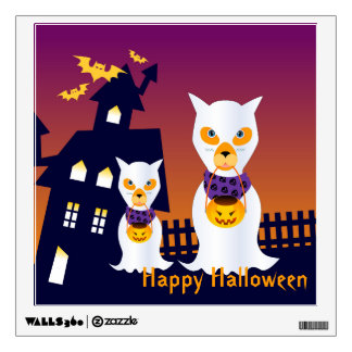 Dog Ghosts trick or treating on Halloween Wall Skins