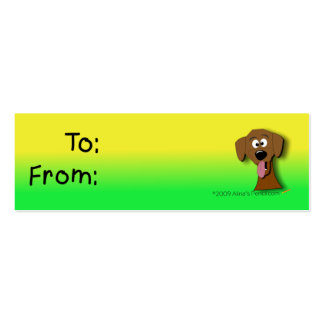 Yellow dog business cards templates zazzle for Dog tag business cards