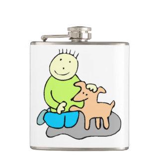 Dog Giving Paw Hip Flask