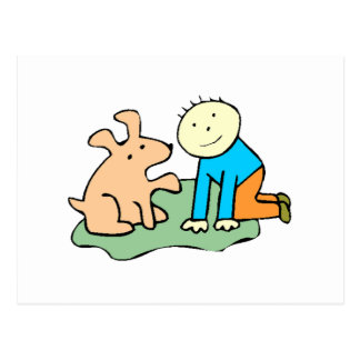 Dog Giving Paw Postcard