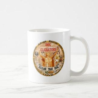 DOG GLADIATORS COFFEE MUG