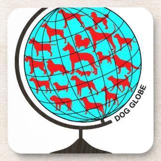 Dog Globe exclusive design art Beverage Coaster