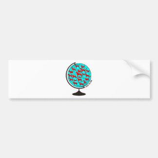 Dog Globe exclusive design art Bumper Sticker