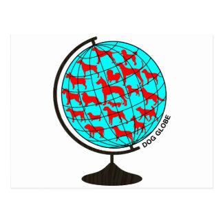 Dog Globe exclusive design art Postcard