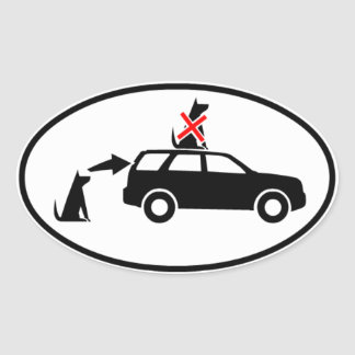 Dog goes IN the car Sticker - Truck version