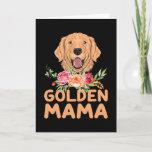 Dog Golden Mama Retriever Card