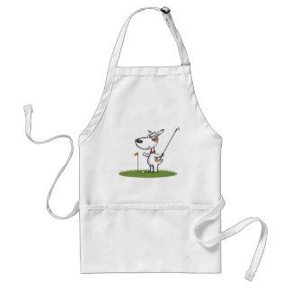 Dog Golf Adult Apron