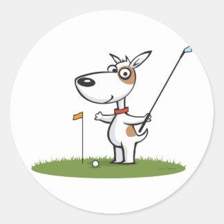 Dog Golf Sticker