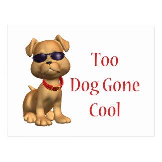 Dog Gone Cool Doggy Postcard
