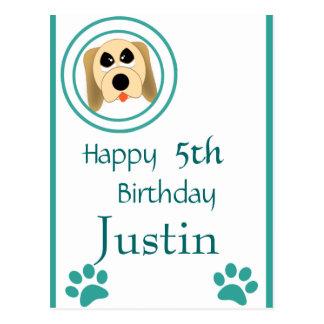 Dog Gone Fun Birthday Postcard