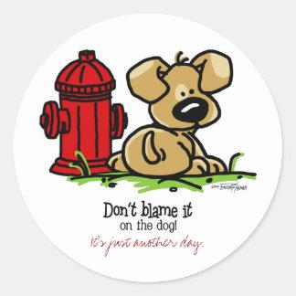 Dog Gone Fun Round Stickers