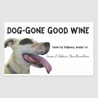 Dog Gone Personalized Wine Labels Humor