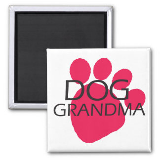 Dog Grandma 2 Inch Square Magnet