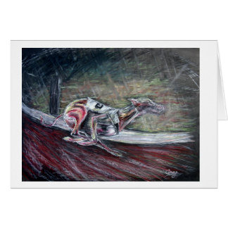 Dog Greetings card racing greyhound picture