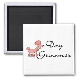 Dog Groomer 2 Inch Square Magnet