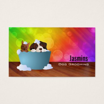Professional Business Dog Groomer Business Cards