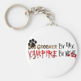 Dog Groomer by day, Vampire by night Basic Round Button Keychain