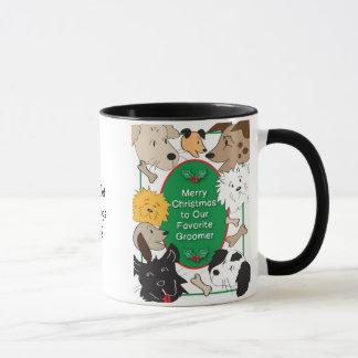 Dog Groomer Christmas Mug