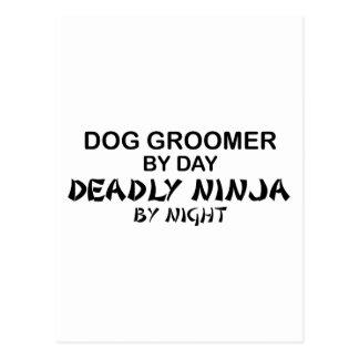 Dog Groomer Deadly Ninja Postcard