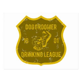 Dog Groomer Drinking League Postcard