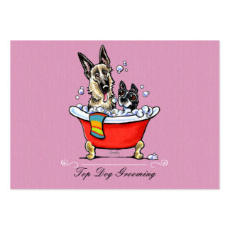Dog Groomer Fancy Claw Foot Tub Lavender Large Business Card